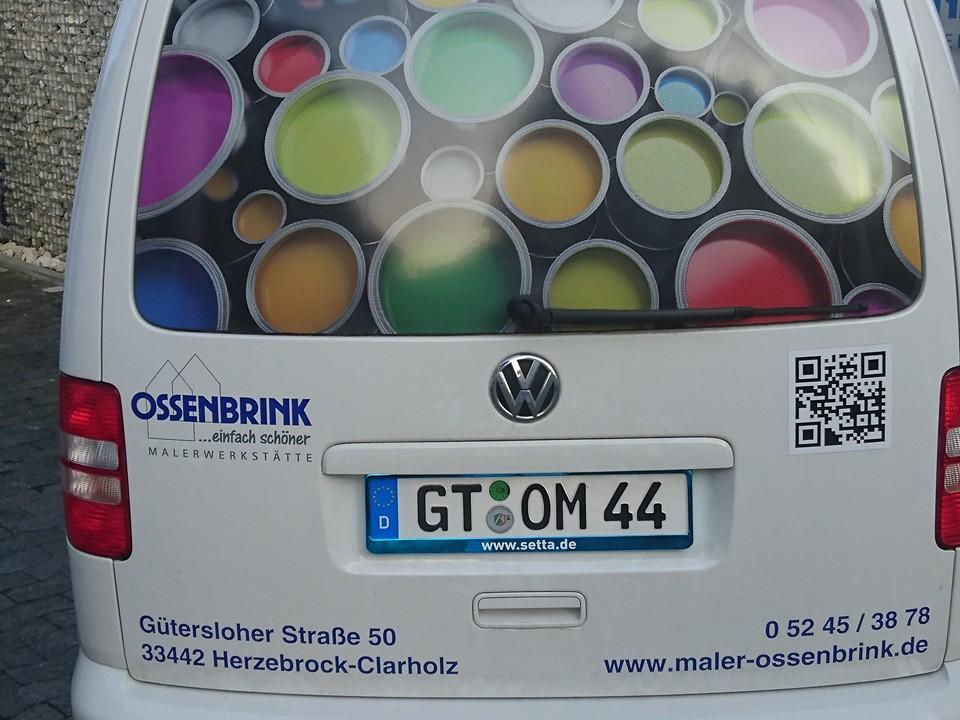 Firmenfahrzeug der Ossenbrink Malerwerkstätte