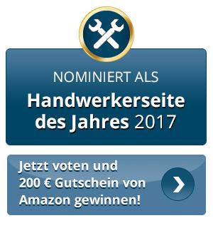 Abstimmung zur Handwerkerseite des Jahres 2017